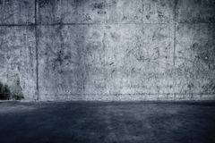 Grungy concrete wall and floor Stock Photography