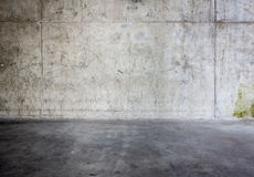 Grungy concrete wall and floor Royalty Free Stock Images
