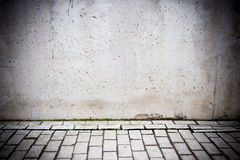 Grungy concrete wall and floor as background Royalty Free Stock Image