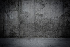 Grungy concrete wall and floor as background Royalty Free Stock Photography