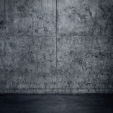 Grungy concrete wall and floor as background Royalty Free Stock Photos