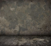 Grungy concrete wall and floor. Stock Images