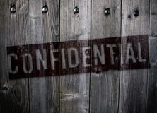 Grungy confidential sign stock photos