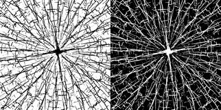 Grungy cracked lines texture background in black and white Royalty Free Stock Images