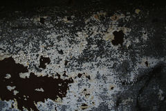 Grungy Crackled Paint. A grunge background of cracked paint and rust Stock Image
