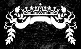 Grungy crown label Stock Images