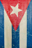 Grungy Cuban Flag a National Symbol Royalty Free Stock Image
