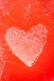 Grungy Czerwoni serca Zdjęcie Stock