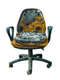Grungy Damaged Office Chair Royalty Free Stock Photos