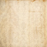 Grungy damask antique brown background. With heart detail stock image