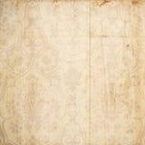 Grungy damast antieke bruine achtergrond Stock Afbeelding