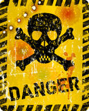 Grungy danger sign Stock Images