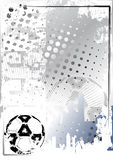 Grungy de afficheachtergrond 1 van het voetbal Royalty-vrije Stock Foto