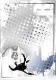 Grungy de afficheachtergrond 5 van het voetbal royalty-vrije illustratie