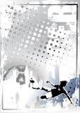 Grungy de afficheachtergrond 6 van het voetbal royalty-vrije illustratie