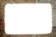 Grungy de baksteen witte ruimte van het muurpleister stock foto's