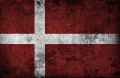 Grungy Denmark Flag Stock Images