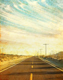 Grungy Desert Road Royalty Free Stock Photography
