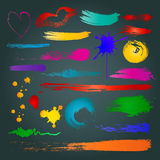Grungy design colorful elements. Vector Stock Photography