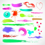 Grungy design colorful elements. Vector Stock Photo