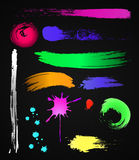 Grungy design colorful elements. Vector set vector illustration