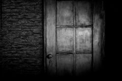 Grungy deur Royalty-vrije Stock Foto