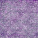 Grungy distressed amethyst background. With subtle allover pattern Stock Photography