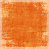 Grungy Distressed Orange Vintage Background Stock Photos
