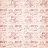 Grungy distressed tea cup background Stock Photo