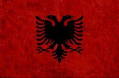 Grungy document vlag van Albanië vector illustratie