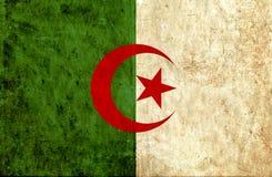 Grungy document vlag van Algerije royalty-vrije illustratie