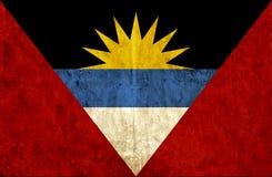 Grungy document vlag van Antigua en Barbuda vector illustratie