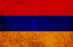 Grungy document vlag van Armenië stock illustratie