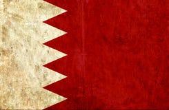 Grungy document vlag van Bahrein vector illustratie