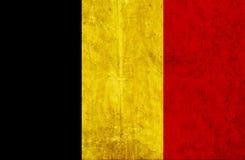 Grungy document vlag van België vector illustratie