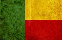 Grungy document vlag van Benin royalty-vrije illustratie
