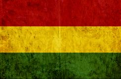 Grungy document vlag van Bolivië vector illustratie