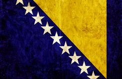 Grungy document vlag van Bosnië-Herzegovina stock illustratie