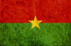 Grungy document vlag van Burkina Faso royalty-vrije illustratie