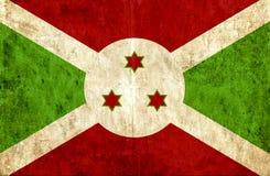 Grungy document vlag van Burundi royalty-vrije illustratie