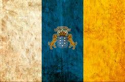 Grungy document vlag van Canarische Eilanden royalty-vrije illustratie