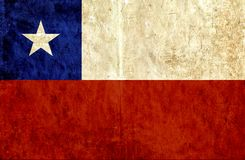 Grungy document vlag van Chili stock illustratie