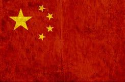 Grungy document vlag van China vector illustratie