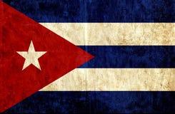 Grungy document vlag van Cuba stock illustratie