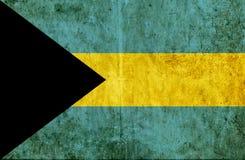 Grungy document vlag van de Bahamas royalty-vrije illustratie