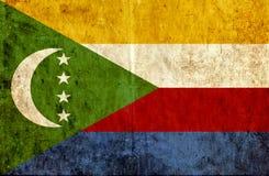 Grungy document vlag van de Comoren stock illustratie