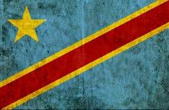 Grungy document vlag van de Democratische Republiek van de Kongo vector illustratie