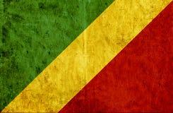 Grungy document vlag van de Kongo royalty-vrije illustratie