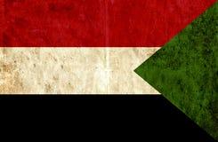 Grungy document vlag van de Soedan vector illustratie