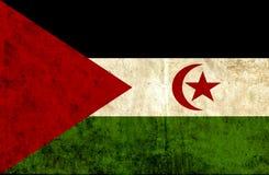 Grungy document vlag van de Westelijke Sahara royalty-vrije illustratie
